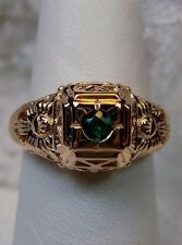 Edwardian Emerald 14k Rose Gold Garden Floral Filigree Ring Size {Made To Order}