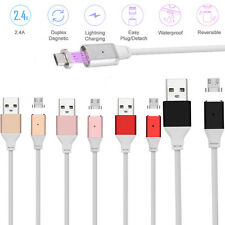 Magnetic Adapter + 1M/3FT Micro USB 2.4A Quick Charging Data Sync Cable Wire