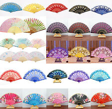 CHIC Spanish Style Dance Wedding Party Lace Silk Folding Hand Held Flower Fan