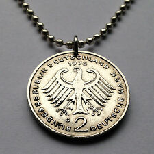 Germany 2 Deutsche Mark coin pendant German EAGLE Deutschland Berlin n001705