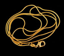 """Wholesale Necklace Chain 5pcs 18K Gold Plated 1.2mm Snake Chain Necklace 16""""-30"""""""