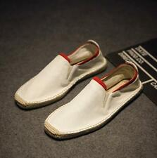 Mens Canvas Moccasins Leisure Shoes Driving Slip On Loafers Flats Breathable