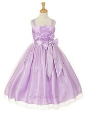 New Lilac Lavender Flower Girls Dress Easter Christmas Party Pageant Fancy 6006K