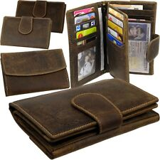 L&B Women's Wallet Vintage Leather Wallet Wallet Purse Briefcase