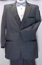 PIERRE CARDIN CHARCOAL GRAY GREY MENS TUXEDO JACKET or 4PC TUX PROM  WEDDING