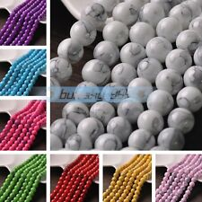 Coated Color Smooth Round Glass DIY Findings Loose Spacer Beads 6mm 8mm 10mm