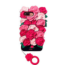 2017 Style 3D Rose Flower Soft Silicone Shockproof Case For iPhone 6 6s 7 Plus