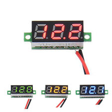 DC 2.4-30V 2 Wire LED Display Digital Voltage Voltmeter Panel Motorcycle