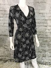 Banana Republic Womens Wrap Dress NEW Silky Soft Black & White Floral NWT-MRP$69