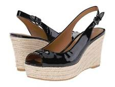 NWB Coach Ferry Patent Leather Slingback Platform Wedge Black 5.5 - 10 MSRP $145