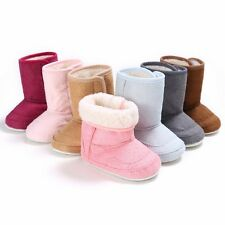 US Cute Baby Kids Boys Girls Warm Snow Boots Fur Winter Toddler Crib Shoes 0-18M