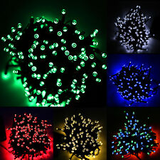 12M100 LED Solar String Lights Garden Outdoor Xmas Party Fairy Tube Multi-color