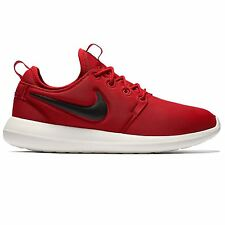 NIKE ROSHE TWO TRAINERS RED SNEAKERS SHOES RUNNING SWOOSH MEN'S SALE CASUAL NEW