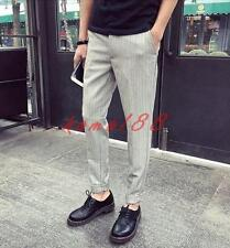 Mens Harem Pants British Casual Fashion Formal Dress office cropped trousers