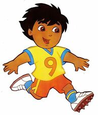 """5.5""""-10"""" Dora & diego sports soccer wall safe sticker border cut out character"""