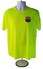 FC BARCELONA Authentic Lionel MESSI 10 Yellow Football Soccer Jersey Shirt FCB E