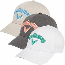 Ladies Callaway Golf Heritage Twill Adjustable Womens Performance Golf Cap