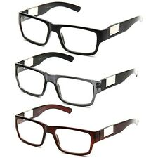 Squares Clear Lens Fashion Glasses Bold Frame Thick Temples