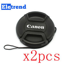 2PCS 58mm Snap-on Lens Front Cap for Canon Camera T5i 700D