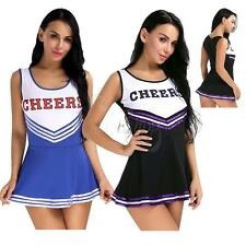 Sexy Ladies Cheerleader School Girls Fancy Dress Uniform Party Costume Outfit