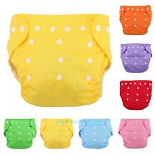 Toddler Infant Baby Reusable Diapers Nappie Soft Cover Washable Cloth Adjustable