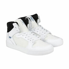 Supra VAIDER Mens White Synthetic High Top Lace Up Sneakers Shoes