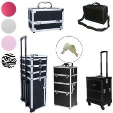 Professional PVC Makeup Rolling Train Case Lockable Cosmetic Wheeled Box Trolley