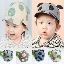 Retro Baby Boys Girls Baseball Cap Beret Cute CartoonSoft Eaves Peaked Hat 1-4 Y