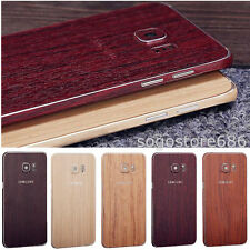 Full Body Wood Grain Pattern Sticker Protector Phone Case Skin For Samsung S7 S6