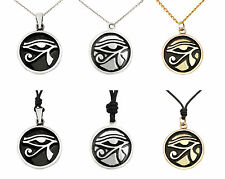 Eye of Ra - Ancient Egypt Handmade Silver Brass Pewter Necklace Pendant Jewelry