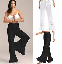 Womens Ladies Yoga Boho Hippie Flared Loose Pants Palazzo Stretch Long Trousers