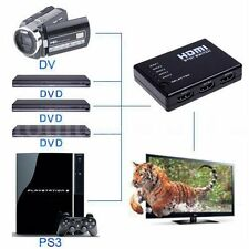 3/5 Port 1080P HDMI Switch Selector Switcher Splitter Hub+Remote for PS3 HDTV GH