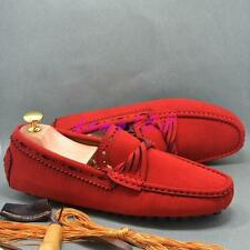 Mens comfortable flat slip on loafer faux suede driving shoes moccasin gommino