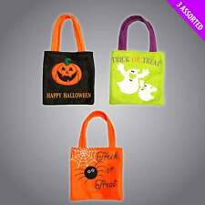 Halloween Felt Fabric Trick or Treat Loot Gift Bags Large Fabric Favour Tote Bag