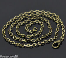"""Wholesale Lots Gift Bronze Tone Textured Chain Necklace 0.7mm thick 18"""""""