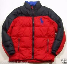 Ralph Lauren Polo Boys Red Big Pony Full Zip Ripstop Puffer Jacket