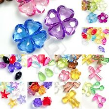 Transparent Acrylic Plastic Beads Craft Spacer Jewelry Findings Assorted Lots