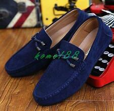 Mens flat driving shoes slip on loafer moccasin gommino fashion breath shoes