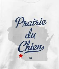 Prairie du Chien, Wisconsin WI MAP Souvenir T Shirt All Sizes & Colors