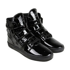Radii Straight Jacket Mens Black Patent Leather High Top Sneakers Shoes
