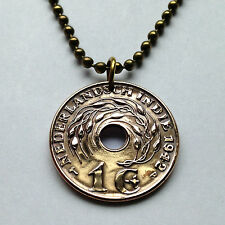 Netherlands Dutch East Indies 1 cent Indonesia necklace Rice plant WWII n000061