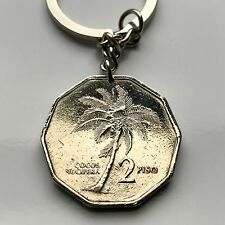 1989 Philippines 2 Piso coin pendant Oil palm tree Pinoy Filipino Manila n002116