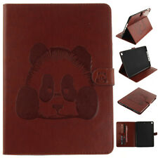 Lovely Cute Panda Flip PU Leather Card Stand Wallet Case For New iPad 9.7 2017