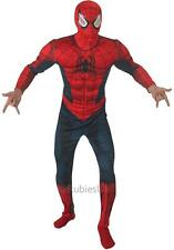 Mens Marvel Superhero Muscle Spiderman 2 Deluxe Fancy Dress Costume