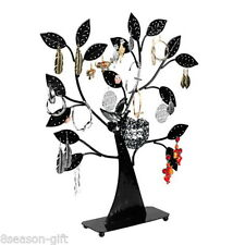Wholesale Lots Hx Gift Black Earring Tree Bird Nest Jewelry Display Stand Holder