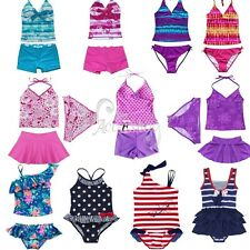 Girls Kids Halter Tankini Bikini Swimwear Swimmers Bathing Suit Swimsuit Sets