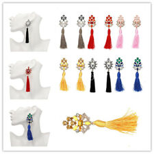 New Fashion Women Rhinestone Tassel Earrings Ethnic Style Boho Dangle Earring