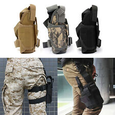 1Pcs Adjustable Hunting Army Tactical Puttee Thigh Leg Pistol Gun Holster Pouch