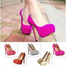 Size 4-7 Women Ladies Concealed Platform Stiletto High Heel Court Shoes UK Stock