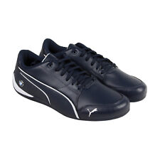 Puma Bmw Ms Drift Cat 7 Mens Blue Leather Lace Up Lace Up Sneakers Shoes